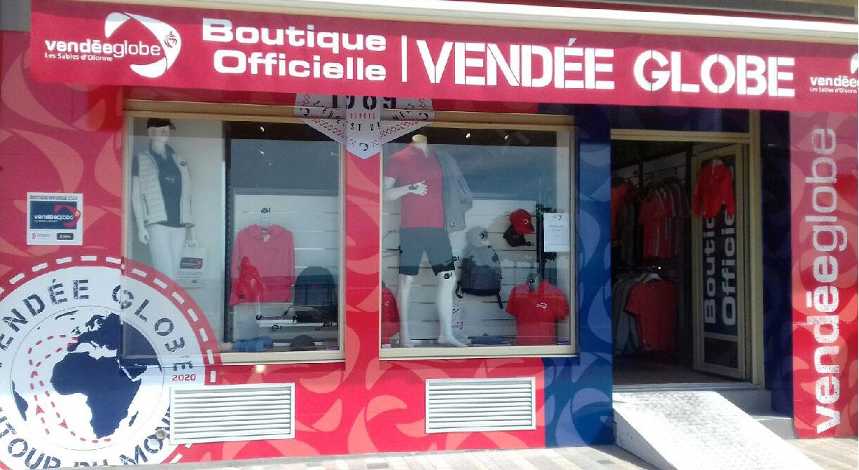 vitrine boutique officielle vendée globe les sables d'olonne