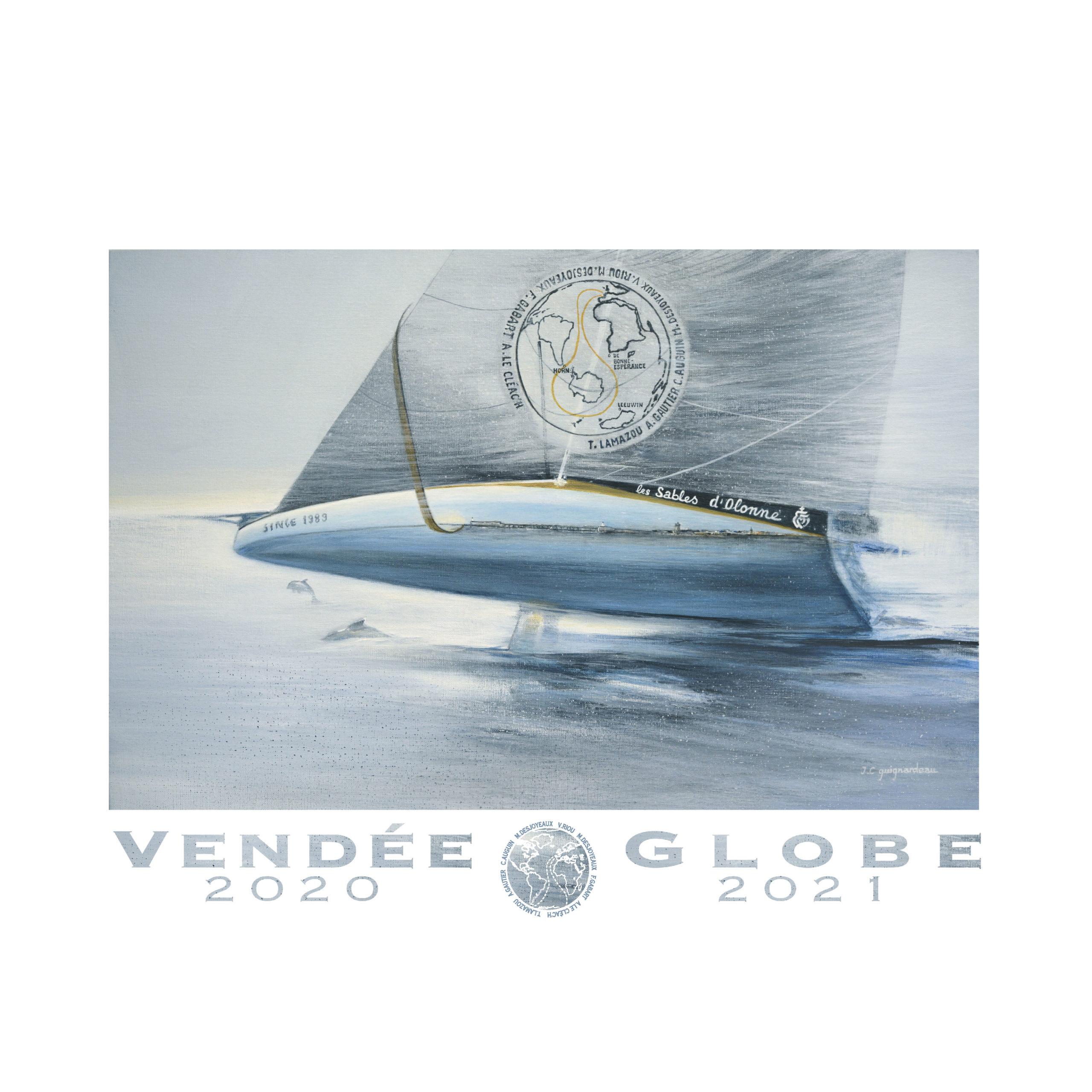 Poster Foiler Format Paysage 70cm 50 Cm Boutique Vendee Globe